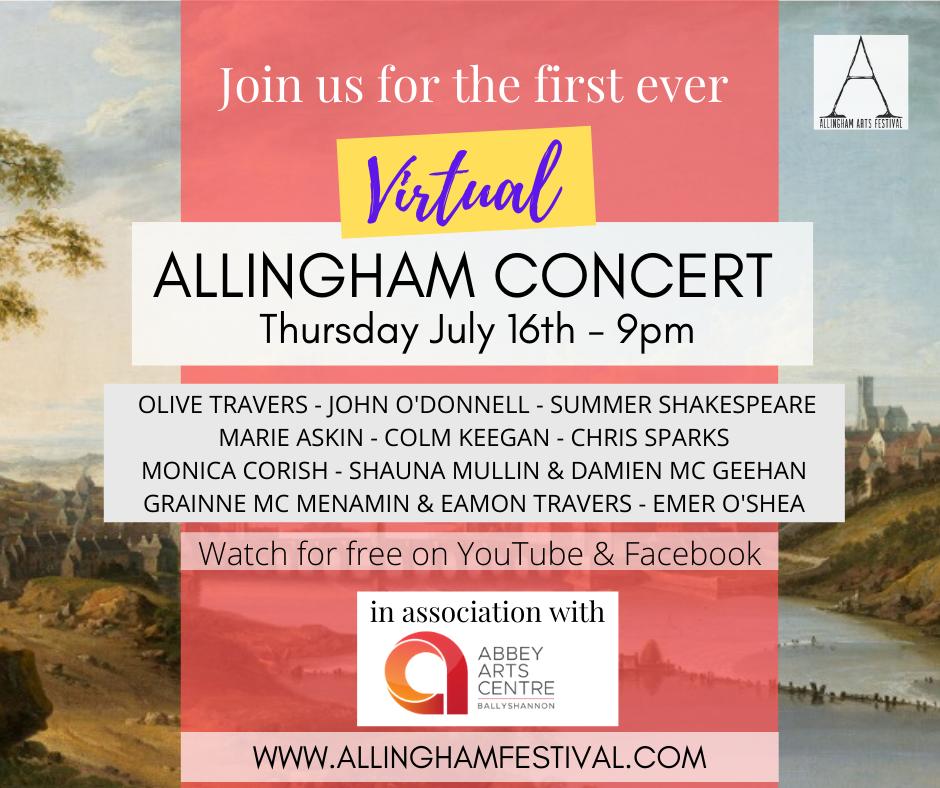 Virtual Allingham Concert Poster | Abbey Arts Centre
