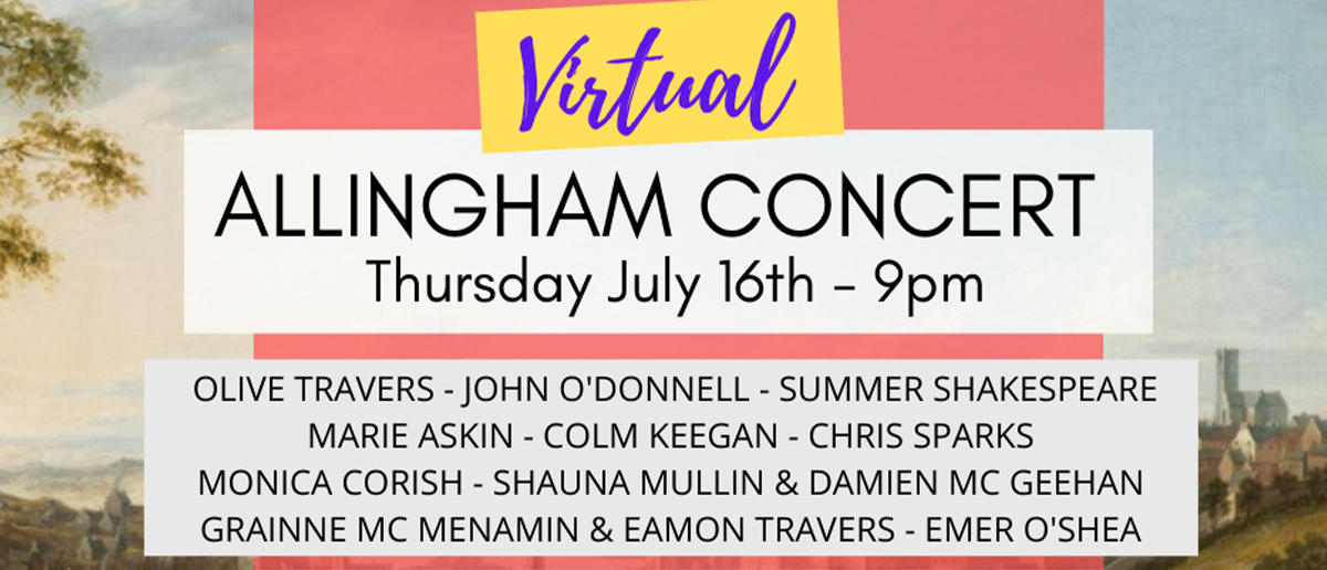 Virtual Allingham Concert Poster | Abbey Arts Centre