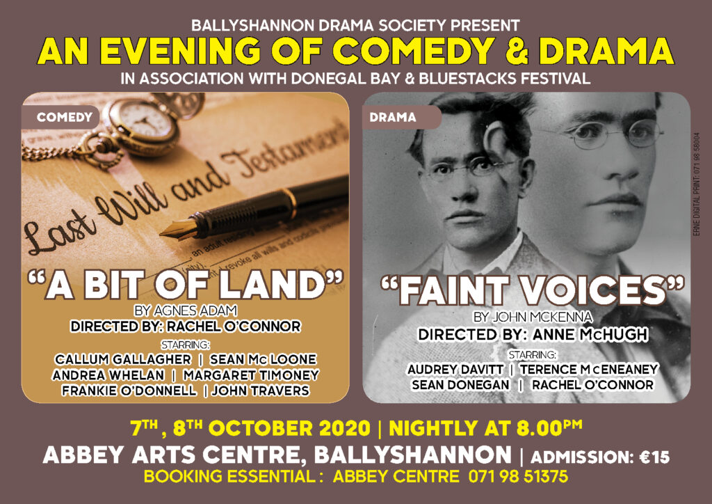 Faint Voices & A bit of Land | Abbey Arts Centre