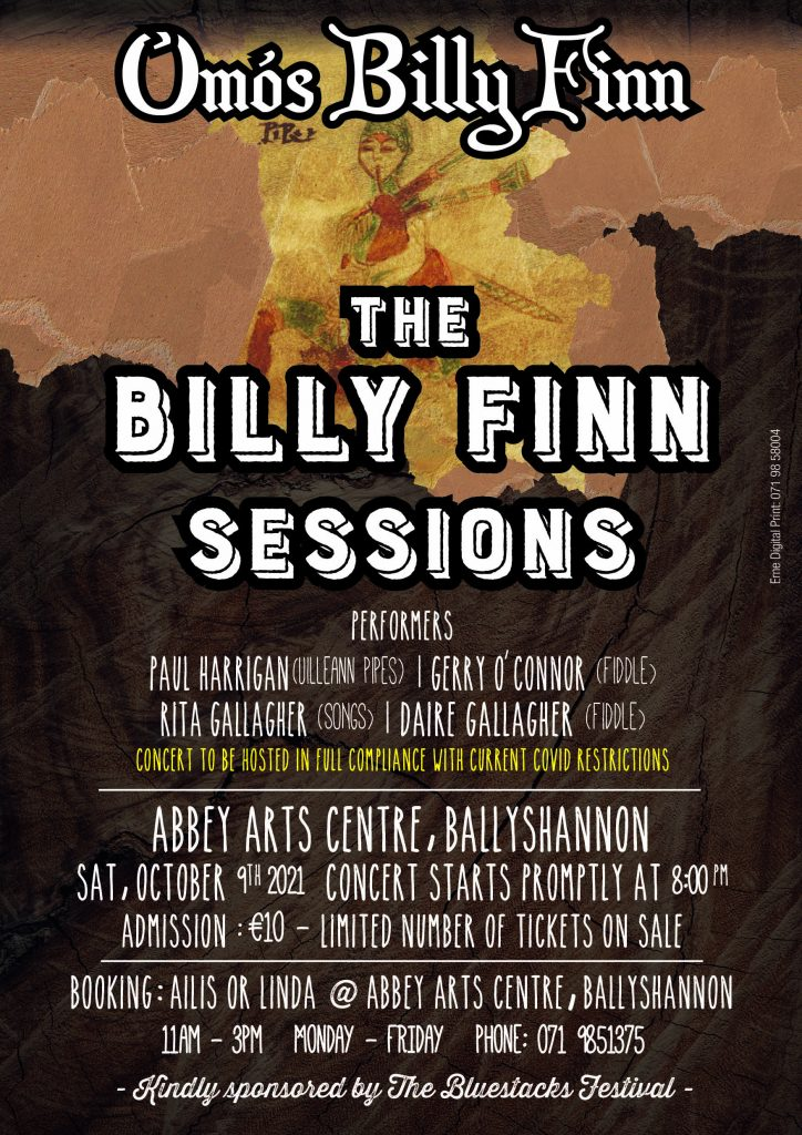Billy Finn Poster | The Abbey Arts Centre