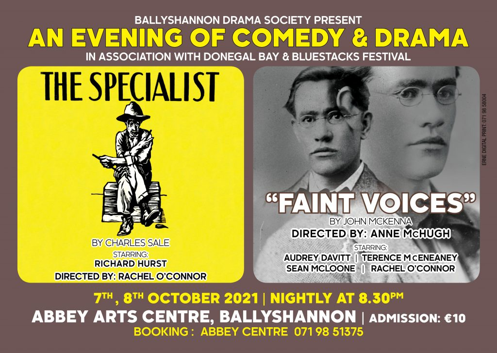 The Specialist & Faint Voices | The Abbey Arts Centre